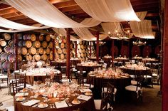 This is actually a wedding reception venue in Napa, but I love the feel of this.
