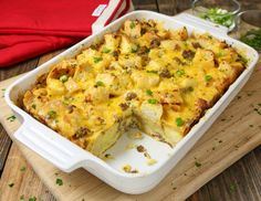 Cheesy Sausage Overnight Breakfast Casserole
