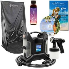 Belloccio Ultra Pro Model T85QC High Performance Sunless HVLP Turbine Spray Tanning System 4 oz Opulence Tanning Solution Spray Tanning Curtain  User Guide DVD * Read more reviews of the product by visiting the link on the image-affiliate link. #BeautySalonEquipment
