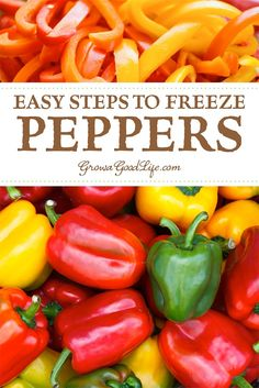 How to Freeze Peppers Tips for Freezing Peppers: The easiest way to preserve peppers quickly is to freeze them. Peppers are one of the few vegetables that can be frozen without having to blanch them first. Visit to see how to freeze peppers. Freezing Green Peppers, Freezing Onions, Freezing Vegetables, Frozen Vegetables, Fruits And Veggies, How To Freeze Peppers, How To Store Peppers, Growing Peppers, Freezing Fruit