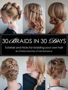 Hairstyles ebook - 30 Braids in 30 days