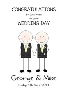 details about gay wedding card personalised same sex wedding gay marriage kilts suits dresses