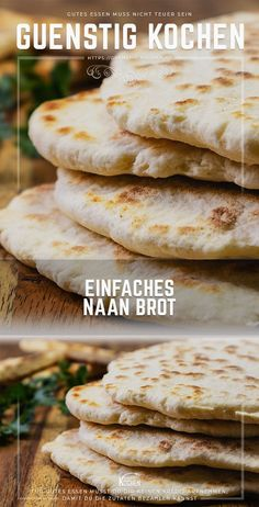 Als schnelle Beilage eignet sich dieses einfache Naan Brot perfekt This recipe for simple Indian Naan bread is a perfect variant if you need to go fast. So you can cook the delicious flatbread at home at a very reasonable price. Pan Indio, Vegetarian Recipes, Cooking Recipes, Quick Recipes, Yummy Recipes, Keto Recipes, Quick Side Dishes, Pin On, Food Garnishes