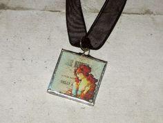 ROMANTICA Charm Kette handgelötet Unikat von Vintage Prints auf DaWanda.com