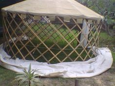 How to build a wood yurt. Might be earier than a double bell, but still overwhelms me.