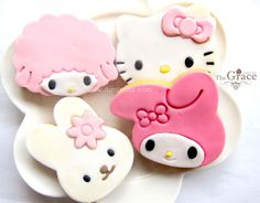 hello kitty & my melody cookies♡