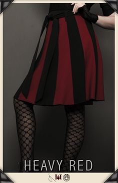 Gothic Skirts, long black skirts, A-line skirts, plaid, strap skirts, bustles, pants, Skirts and pants by Gothic Clothing designer Ondine for Heavy Red Couture Noir. Goth to punk Victorian to Edwardian Steampunk Couture Gothic Fashion.
