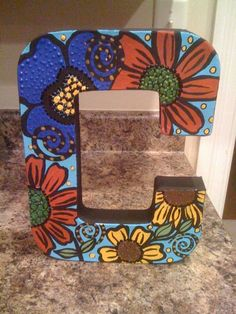 hand painted letter by traceymalone on Etsy, $25.00