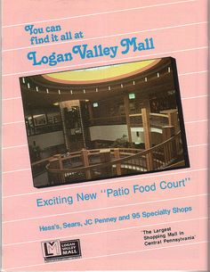 Ad for the Logan Valley Mall - Altoona. PA 1987 by cooldude166861, via Flickr