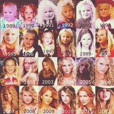 growing up...cute idea. Like an Instagram collage of so many face pictures