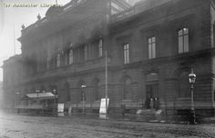 Hulme Town Hall and Library, Stretford Road, 1901