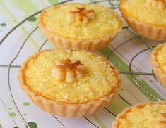 My Kitchen Snippets: Coconut Tarts Coconut Recipes, Tart Recipes, Cooking Recipes, Kouign Amman, Dessert Drinks, Dessert Recipes, Buko Pie, Butter Tart Squares, British Bake Off Recipes
