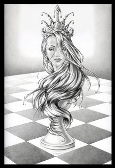 Queen chess piece black and white drawing. Tattoo Sketches, Tattoo Drawings, Drawing Sketches, Art Drawings, Hipster Drawings, Couple Drawings, Manga Drawing, Drawing Tips, Pencil Drawings
