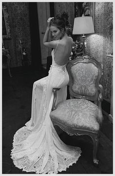 inbal dror bridal gowns | Weddbook ♥ Inbal Dror sexy backless silk wedding dress. Black and ...