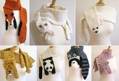 Schals mit Tiermotiv - Animal-scarfs