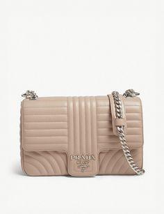 7165b7a10bfc PRADA - Quilted shoulder bag | Selfridges.com Quilted Shoulder Bags, Quilted  Leather,
