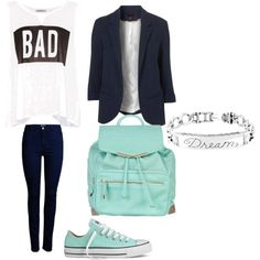 A fashion look from November 2014 featuring Pull&Bear tops, ONLY jeans and Converse sneakers. Browse and shop related looks.