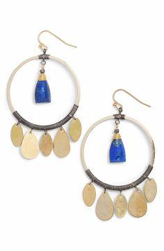 Main Image - Nakamol Design Hoop Drop Earrings