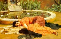 One of my favourite paintings: 'Dolce far niente', the art of doing absolutely nothing O;) #kleurinspiratie