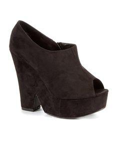 Black (Black) Black Peep Toe Chunky Platform Heels   256866201   New Look