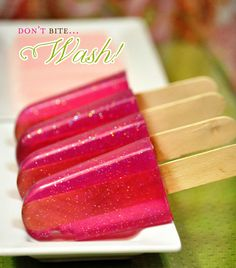"Soap popsicles for ""her"" - teen spa party!"