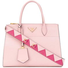 Prada Paradigme tote bag (139,265 PHP) ❤ liked on Polyvore featuring bags, handbags, tote bags, pink, leather handbags, pink leather tote, leather tote bags, prada handbags and prada tote