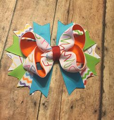 Letter alphabet hair bow colorful back to school glitter #bowtifulblessings