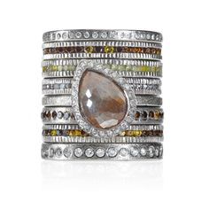 These Autumn Colors Feel Just Right For This Weekend's Ring Stack. - Click for More...