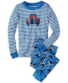 9b42cd7f40 Blue Organic Cotton Long John Pajamas - Infant