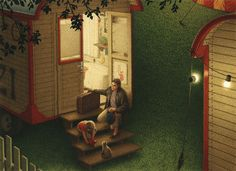 quint buchholz. In Front of the Circus Wagon