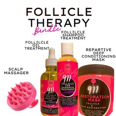 911 CPR Follicle Therapy Bundle with Free Scalp Massager
