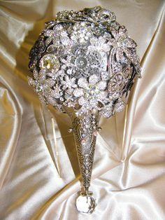 custom designed Brooch Bouquet  Crystal Brooch Bouquets Inc. #timelesstreasure