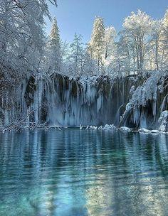 Winter wonderland & the magnificent frozen waterfalls of Plitvice Lake, Croatia!