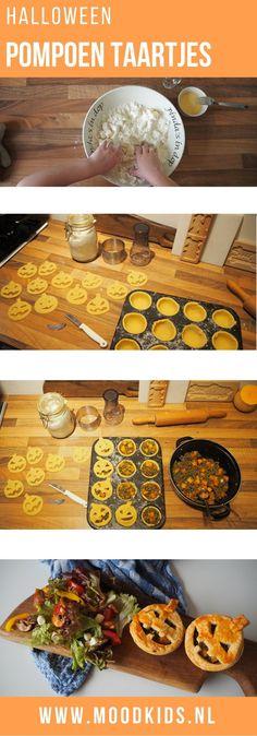 Jasmijn maakt voor Halloween hartige pompoentaartjes. Lekker met salade, soepje of in de lunchtrommel. Zo leuk en lekker. Ook na Halloween gaaf om te doen. Met stap voor stap recept met foto's.