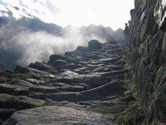 A different version of skipping stones...    Inca Trail, Machu Picchu, #Peru