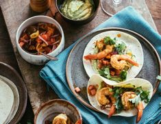 Prawn Tacos with whipped guacamole and watermelon-tomato salsa by Adam Liaw - Brown Brothers
