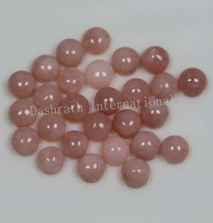 NATURAL PINK OPAL CABOCHON ROUND TOP QUALITY CALIBRATED LOOSE OPAL GEMSTONE