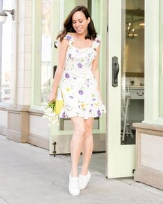 e19ccf86e3b5 Shop the Look from Sydne Summer on ShopStyleA little floral dress with  sneakers