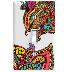 Light Switch Cover Colored Paisley Design By SwitchCoverSupply
