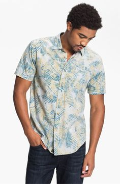 RVCA 'Fern N Burn' Woven Shirt available at Nordstrom