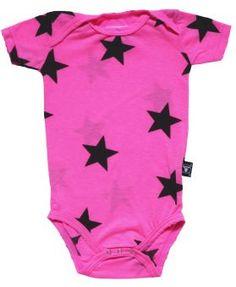 NUNUNU Onesies Body Star neon pink
