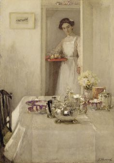 Henry Silkstone Hopwood The breakfast table, 1907