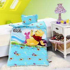 Winnie The Pooh Blue Disney Sleeping Bag Sets