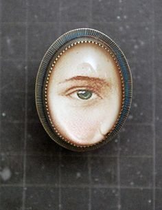 Support a Cure for Ocular Melanoma Roberta and David Williamson, brooch Eye Jewelry, Jewelry Art, Antique Jewelry, Jewlery, Vintage Jewelry, Lovers Eyes, Found Object Jewelry, Miniature Portraits, Mourning Jewelry