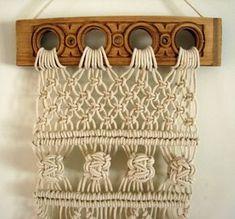 Handmade Macrame Wall Hanging Cotton Cord by LindaShannonMacrame