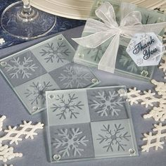 Snowflake Glass Coasters by Beau-coup