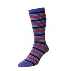 Sicily men's sea island cotton dress socks in marine Mens Colorful Dress Socks, Corgi Socks, Mens Designer Socks, Merino Wool Socks, British Men, Striped Socks, Buy Dress, Mens Xl, Sicily