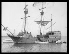 The Arbella in Salem - Digital Commonwealth ~ flagship of the Winthrop fleet George Francis, Boston Harbor, North Shore, Commonwealth, Historical Society, North America, Sailing, Old Things, England