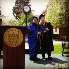 Graduate Nic Neuenhoff with President Tierno receiving his diploma. #Caz2014 Photo by lydiadgn