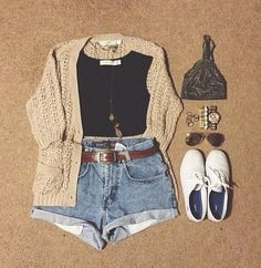 I love eveything about this! A simple crop top paired with shorts always looks good and is super simple to create.